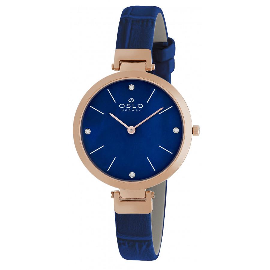 3d1184d2545bf Relógio Oslo Feminino com Pulseira de Couro OFRSCS9T0002D1DX
