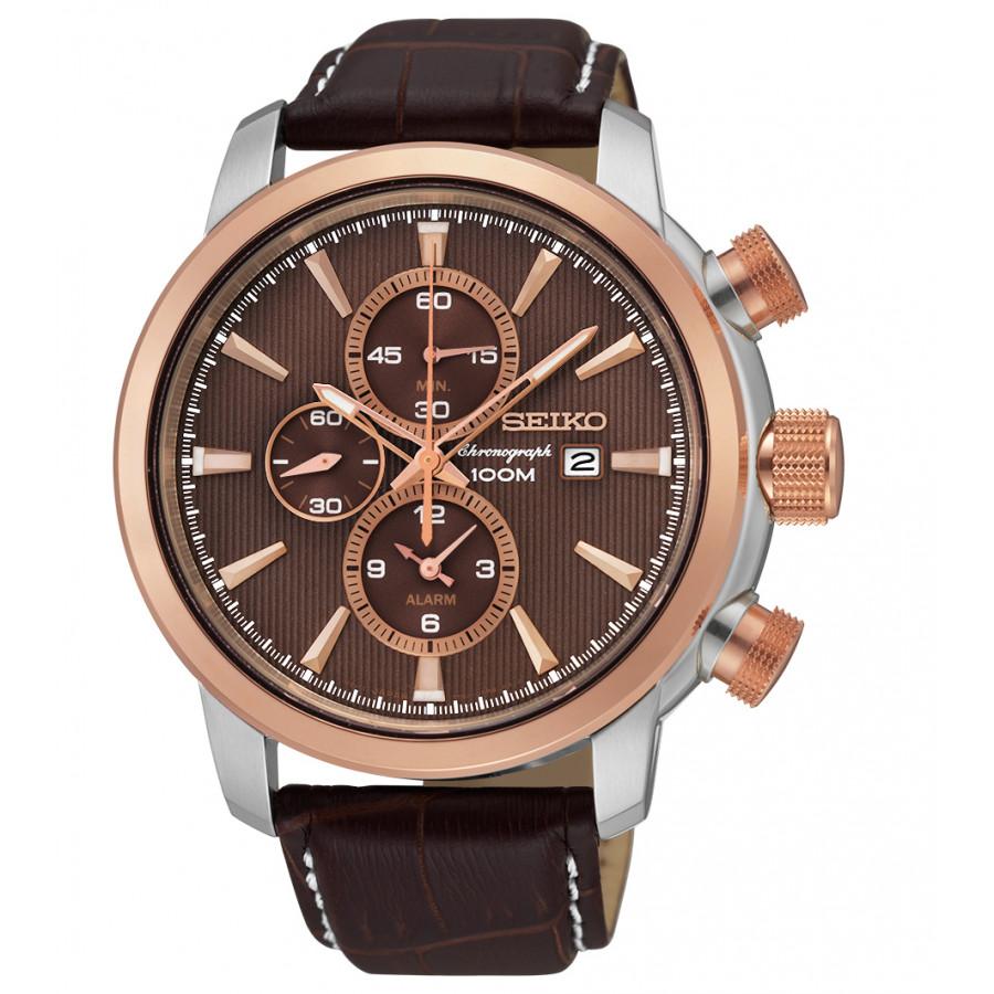 9e9af48c9a1 Relógio Seiko Masculino com Pulseira de Couro SNAF52B1N1NX - Seiko - Marcas