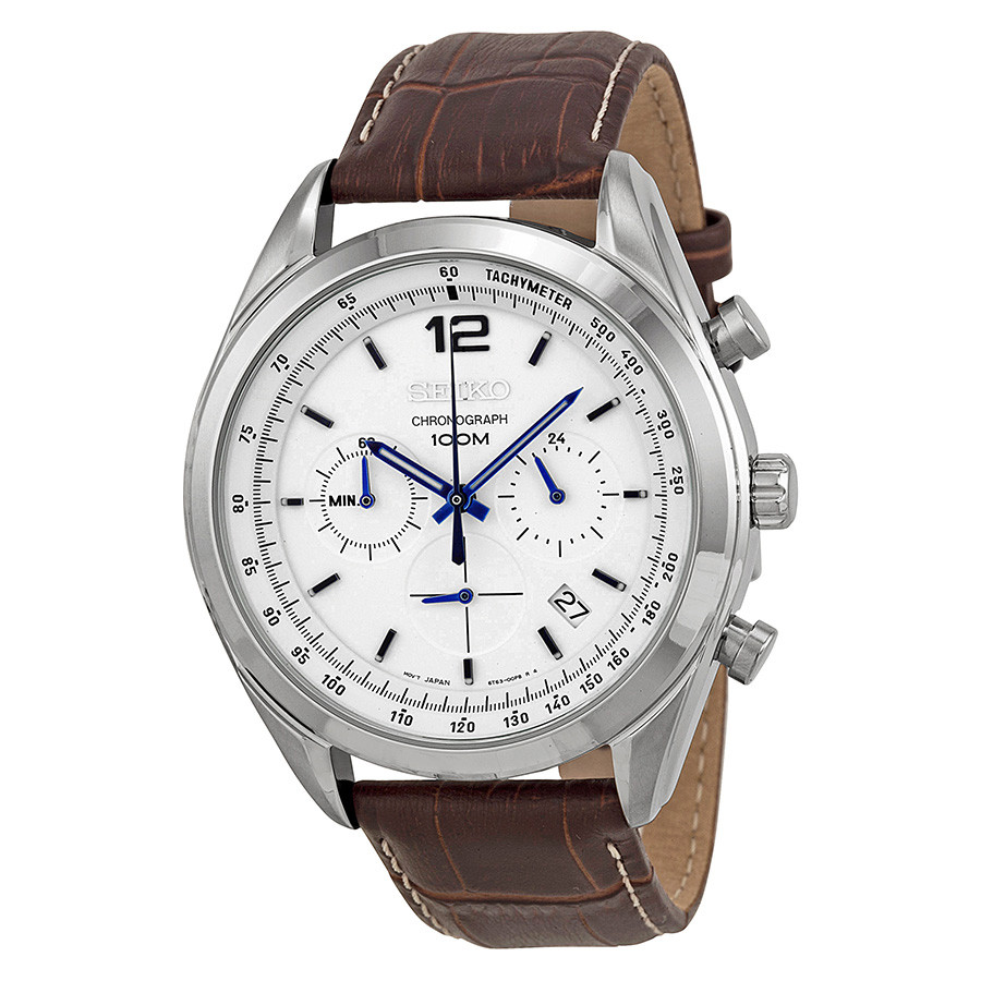 df39afa7a51 Relógio Seiko Masculino com Pulseira de Couro SSB095B1B2MB