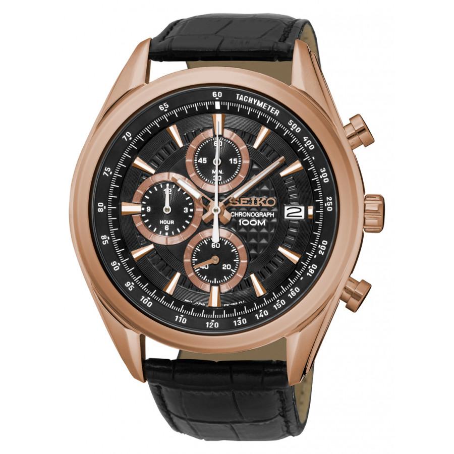 f4ac7baf879 Relógio Seiko Masculino com Pulseira de Couro SSB202B1P1PX