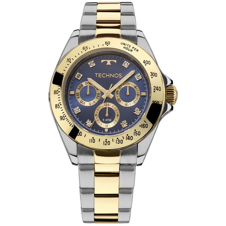 Relógio Technos Dourado e Prateado Elegance 6P29AIV 5A db34b48b37