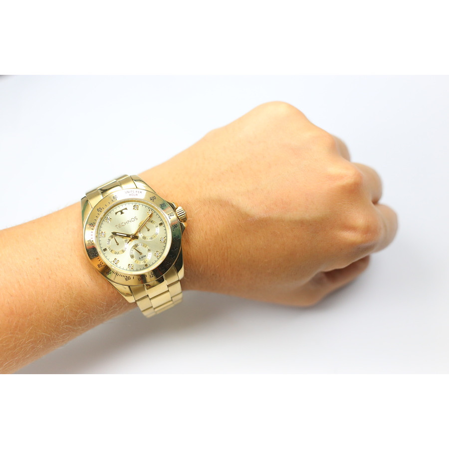 Relógio Technos Dourado Feminino Elegance Ladies 6P29AIT 4X 92d413cade