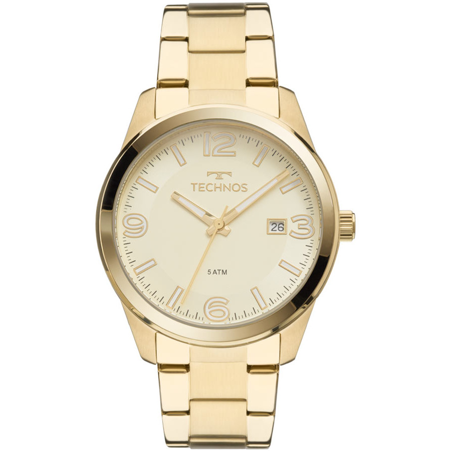 fd890498e117b Relógio Technos Dourado Feminino Elegance Dress 2115MNA 4X