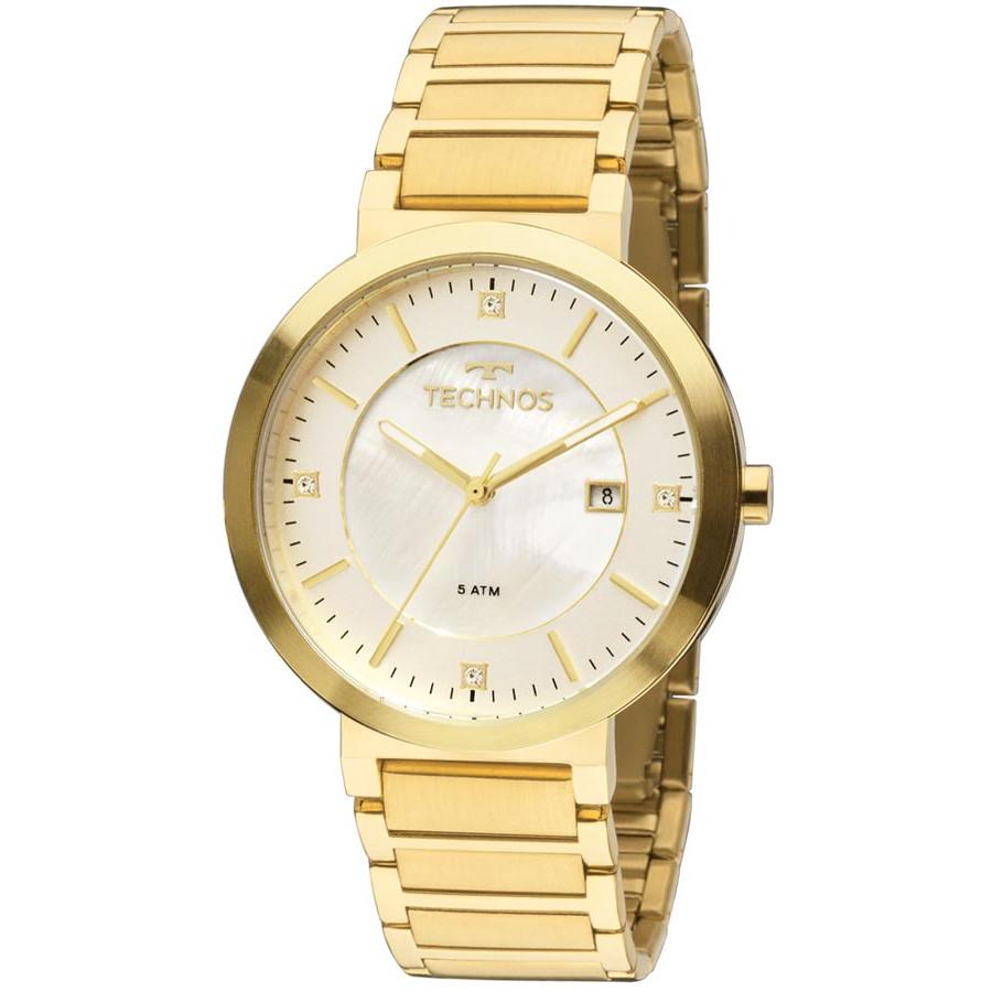 525fbde300920 Relógio Technos Dourado Feminino Elegance St Moritz 2115KTL 4B