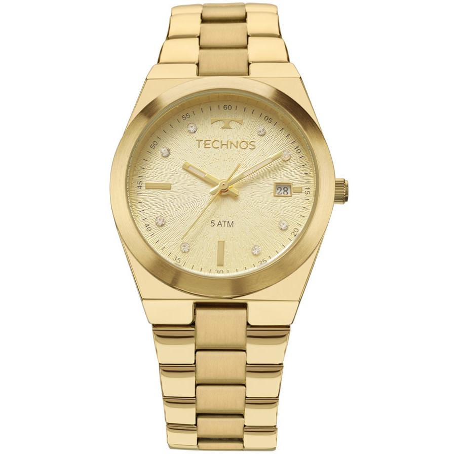 289e345b7956e Relógio Technos Dourado Feminino Fashion Trend 2115KZR 4X