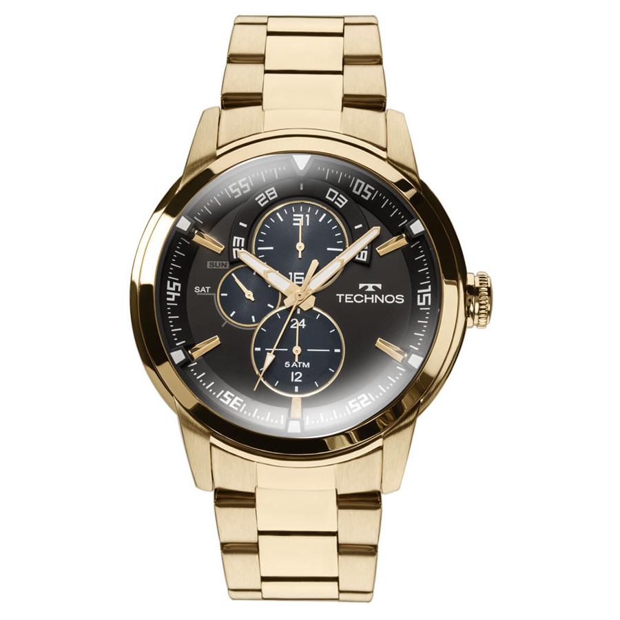f49fefde6af7d Relógio Technos Masculino Dourado Classic Grandtech 6P57AA 4P