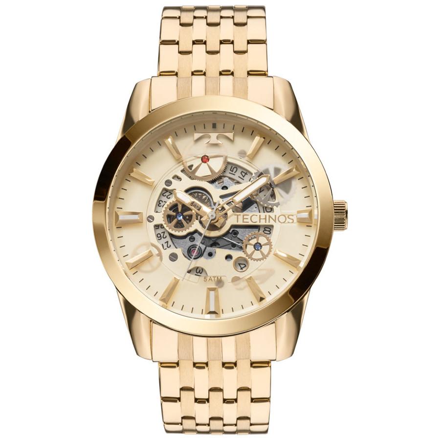 Relógio Technos Masculino Dourado Classic Automático 8205NQ 4X c638a7ea6b
