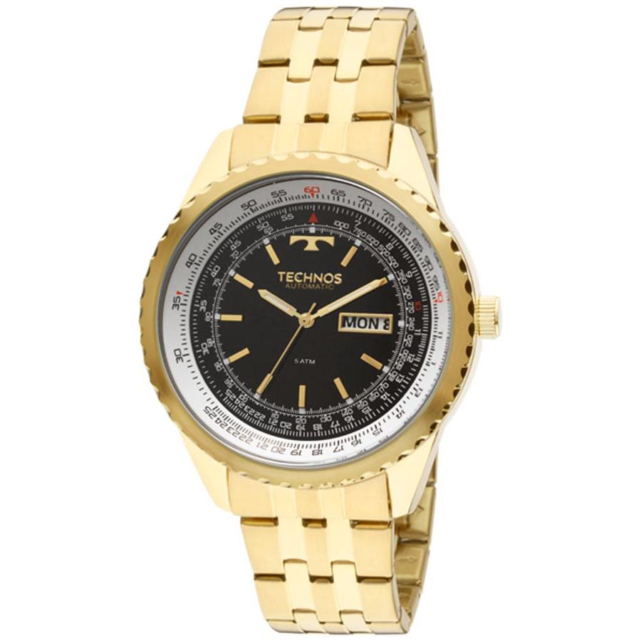 Relógio Technos Dourado Masculino Automático 8205NN 4P 68f65c1fa9