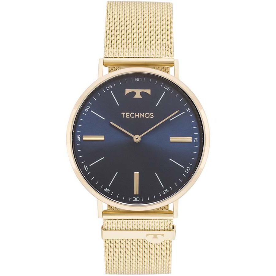 547028d19e6e3 Relógio Technos Dourado Masculino Classic Slim 2025LTK 4A