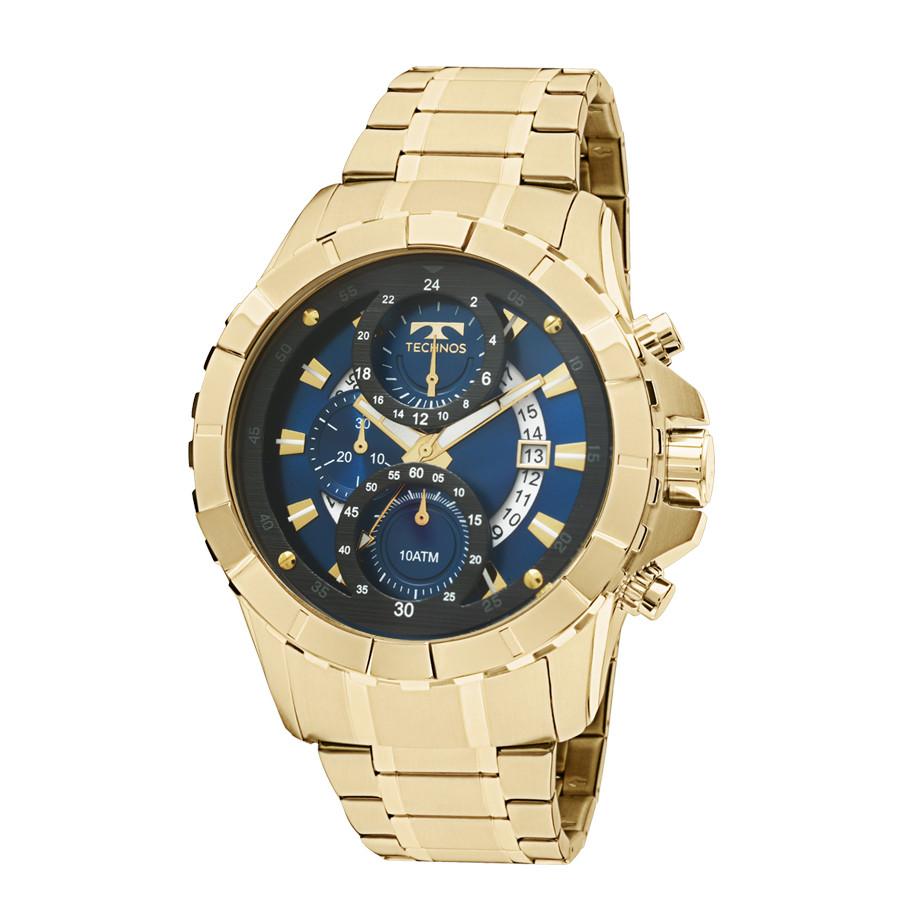 a3962074c73 Relógio Technos Dourado Masculino Legacy Cronógrafo JS15EM 4A
