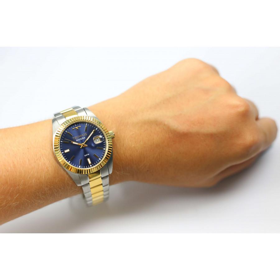 Relógio Technos Dourado e Prateado Riviera 2115KTT 5A 39cc2b6f27