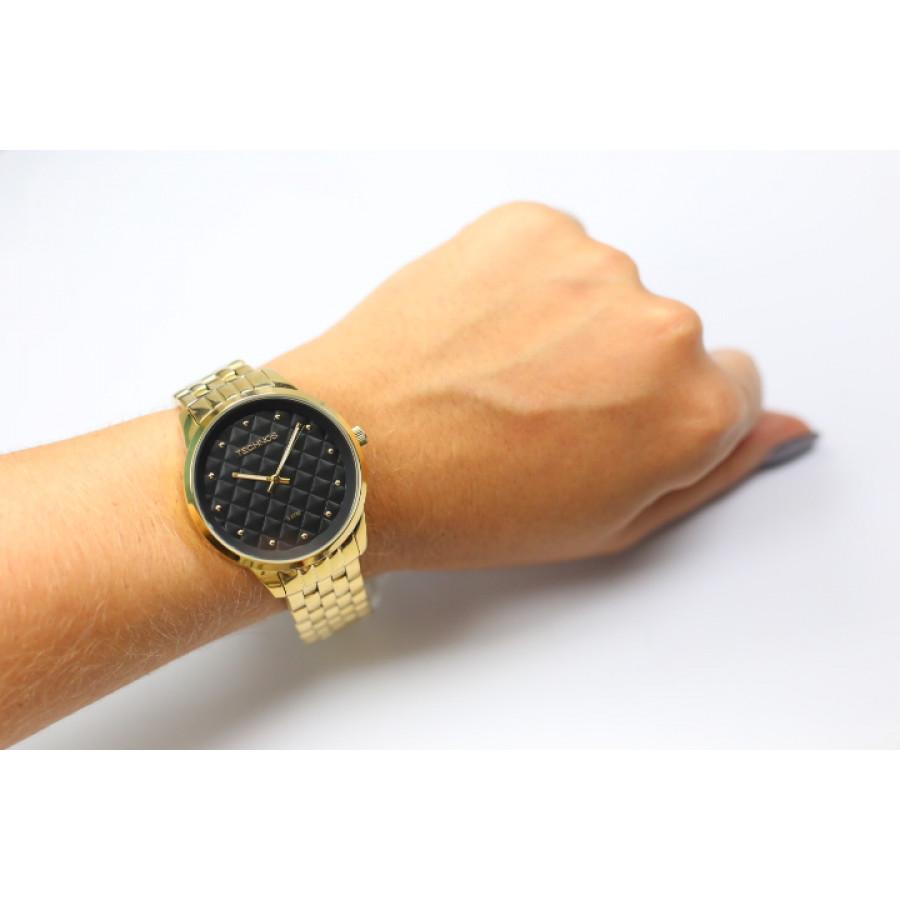 7cf0dfbf99037 Relógio Technos Feminino Dourado Fashion Trend 2035LWM 4P
