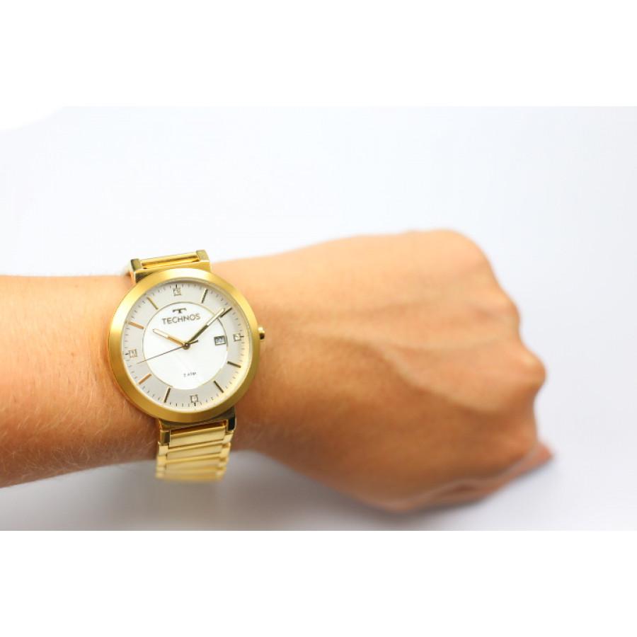Relógio Technos Dourado Feminino Elegance St Moritz 2115KTL 4B e8d46cda15