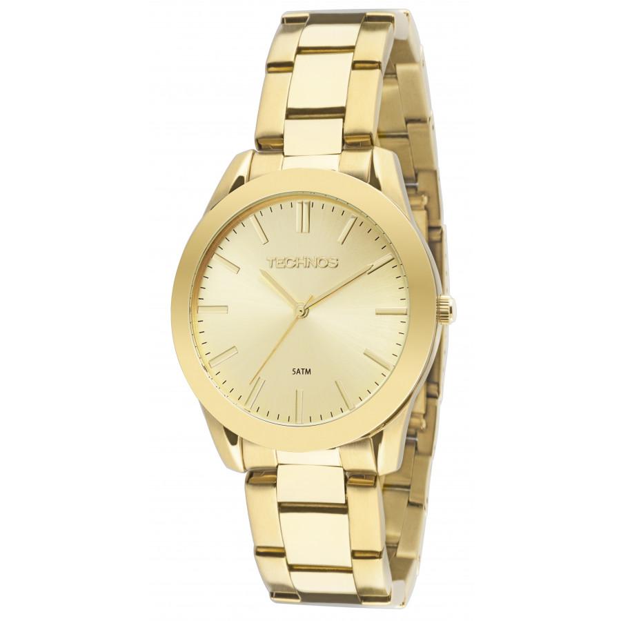 d31652d85c76f Relógio Technos Feminino Dourado Elegance 2035LRS 4X