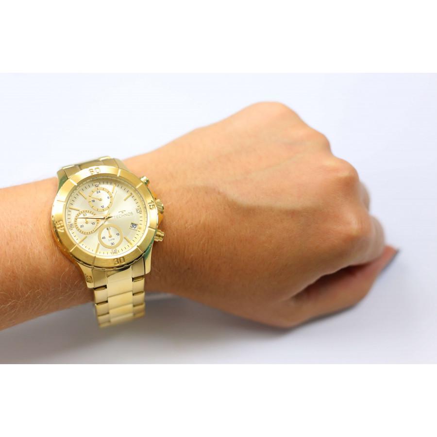 Relógio Technos Dourado Feminino Elegance Dress JS15BM 4D 7b36b44f78
