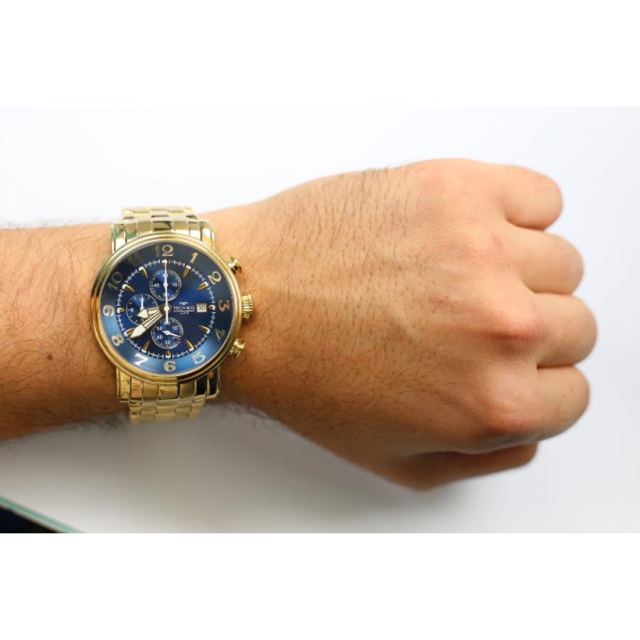 Relógio Technos Dourado Masculino Grandtech Cronógrafo OS10CR 4A - Aço  Inoxidável - Materiais da Pulseira 4421abea6f