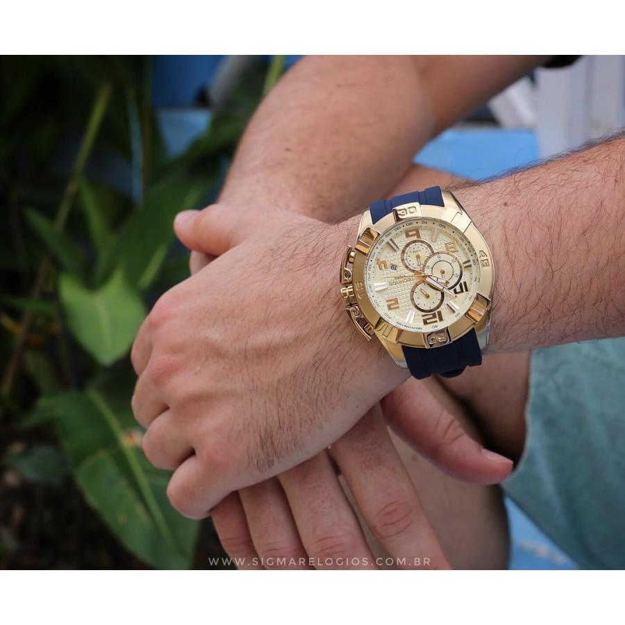 e9cbe0f4f45 Relógio Technos Masculino Dourado Legacy JS15BE 8X com pulseira de ...