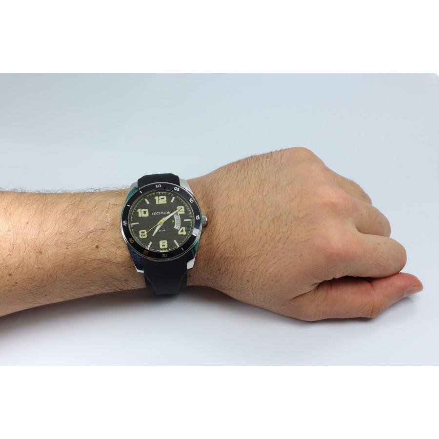 Relógio Technos Masculino Performance Racer 2115KSR 8Y com Pulseira de  Silicone 406bc38e57