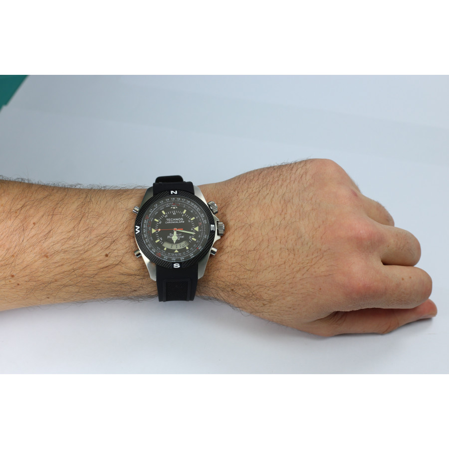 5bfe0caa746c1 Relógio Technos Masculino Performance Skydiver T205FH 8P com Pulseira de  Silicone
