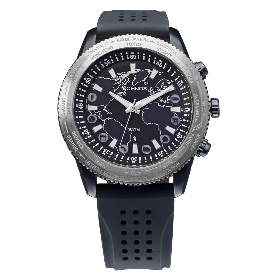 e72540c2d52 Relógio Technos Masculino Preto Connect 753AB 8A