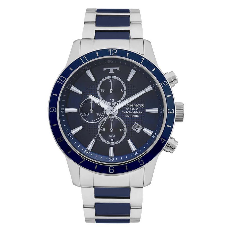 Relógio Technos Prateado Masculino Cerâmica JS15FJ 1A - Technos - Marcas cc6b45a753
