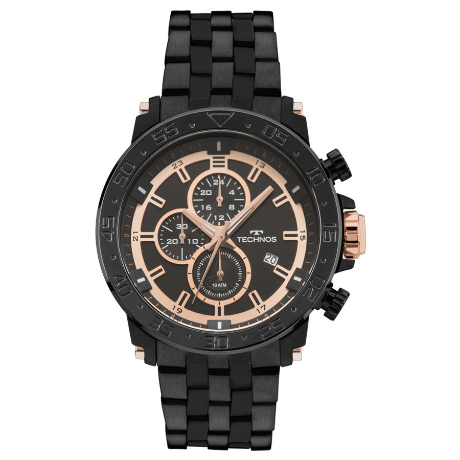Relógio Technos Preto Masculino Classic Legacy JS15ES 4P cdb2fbfb31