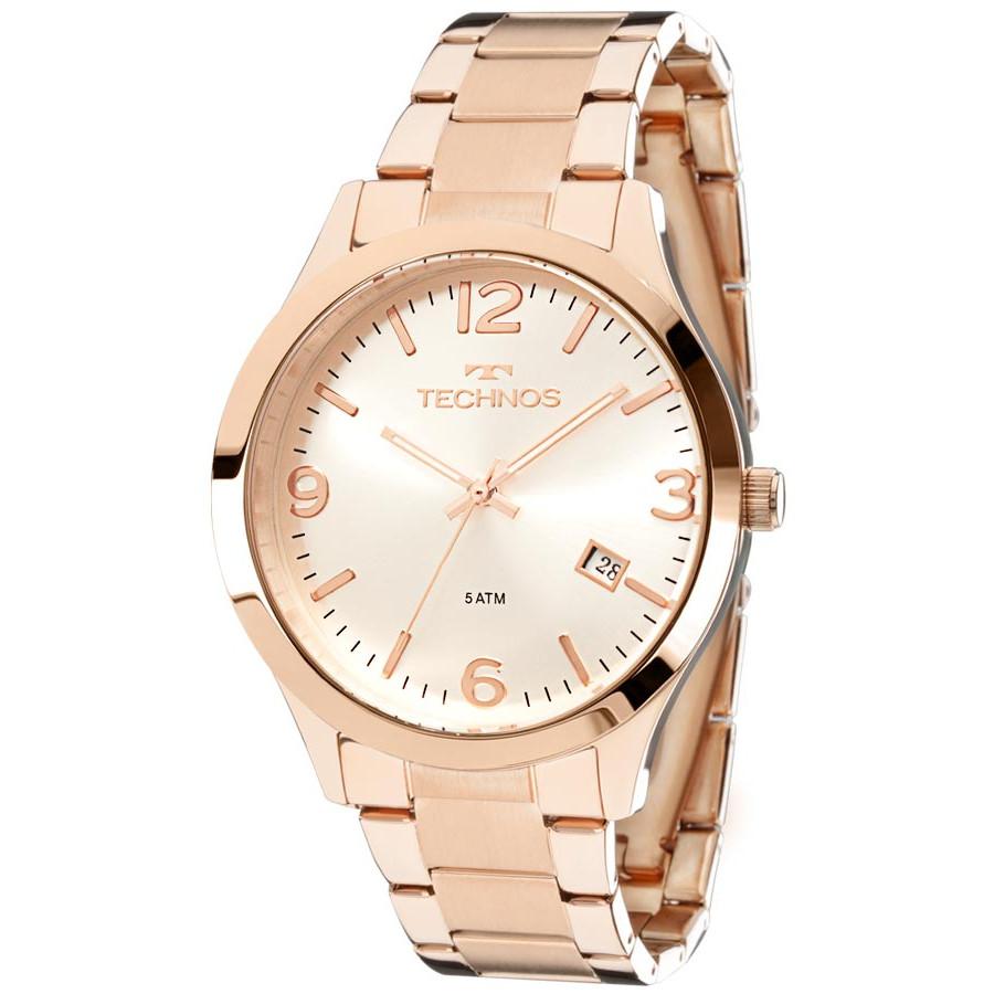cecddac37dbf1 Relógio Technos Rose Feminino Elegance Dress 2315ACJ 4K