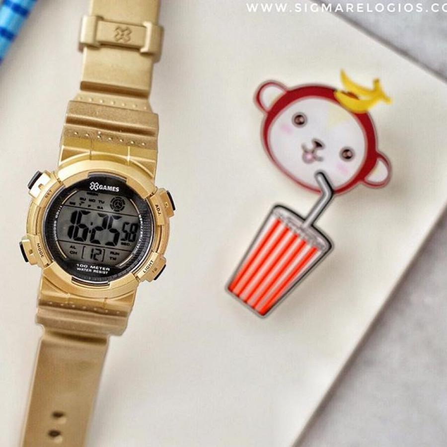 4b5172e62a28d Relógio X-Games Dourado Infantil Digital XKPPD022BXKX