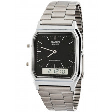 548ba36bd58 Relógio Casio Prateado Vintage Analógico digital AQ230A1DMQ