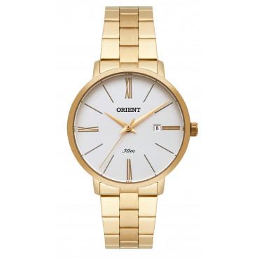 69855277378 Relógio Orient Feminino Dourado Analógico FGSS1156S3KX. 10x deR  37