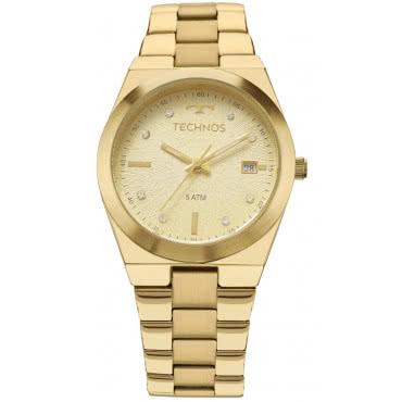 2d08adea55b Relógio Technos Dourado Feminino Fashion Trend 2115KZR 4X. 10x deR  32