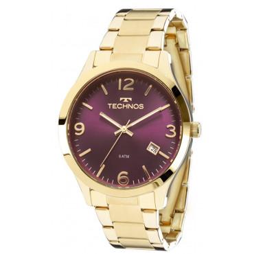 6967508d8b1 Relógio Technos Feminino Dourado Elegance Dress 2315ACD 4N. 10x de R  28