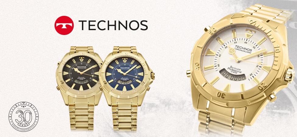 Relogio-technos-skydiver-dourado-T205FL4B-T205FL4P-T205FL4A-